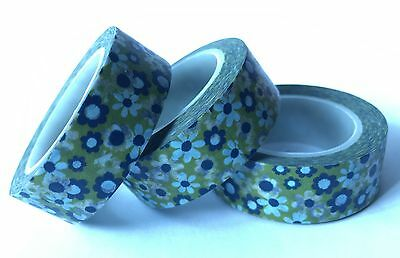 Washi Tape Floral Picnic 15Mm X 10Mtr Scrap Craft Wrap Planner Mail Art