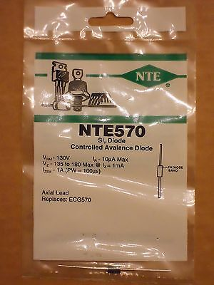 NTE570 ECG570 Silicon Si Controlled Avalanche Diode 135V to 180V NEW