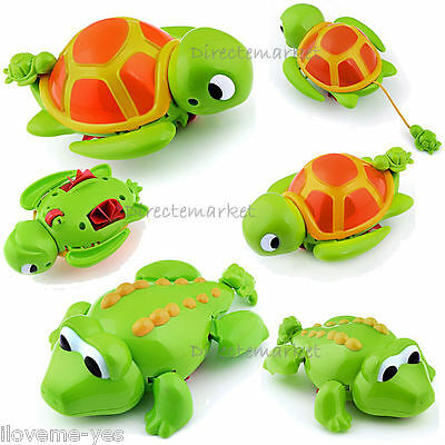 New Swimming Turtle & Crocodile Pool Toys for Baby Children Kids Happy Bath Time