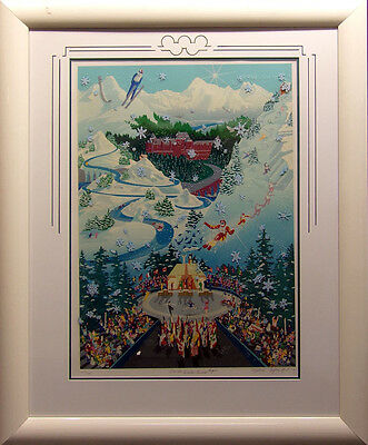 """Melanie Taylor Kent """"Let the Winter Games Begin"""" Hand Signed Art SUBMIT OFFER"""