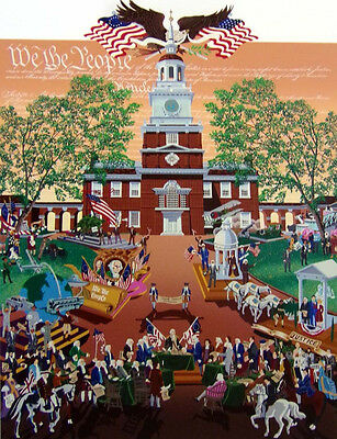 """Melanie Taylor Kent """"We the People Thanksgiving"""" Hand Signed Limited Edition Art"""