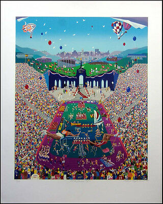 """Melanie Taylor Kent """"Let the Games Begin"""" Hand Signed Serigraph on Paper"""