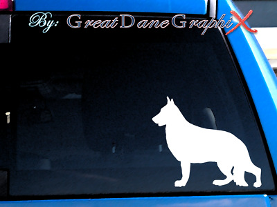 German Shepherd #2  Vinyl Decal Sticker / Color Choice - HIGH QUALITY