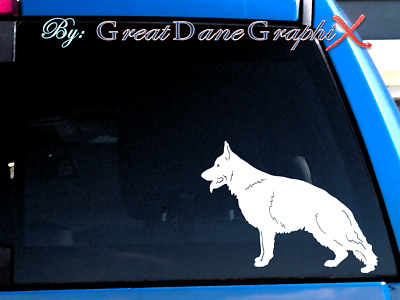 German Shepherd #1  Vinyl Decal Sticker / Color Choice - HIGH QUALITY