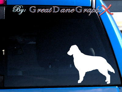Flat-Coated Retriever  Vinyl Decal Sticker / Color Choice - HIGH QUALITY