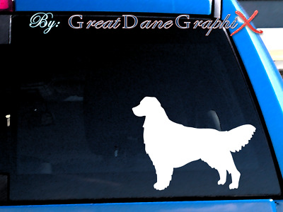 Golden Retriever #1 Vinyl Decal Sticker / Color Choice - HIGH QUALITY