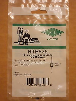 NTE575 ECG575 UG1005 1000V 1A Silicon General Purpose Fast Recovery Diode NEW