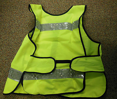 NEW Hi Viz Fluorescent Reflective Yellow Adjustable Mesh Waistcoat / Gilet