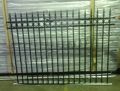 Aluminium 2m x1.5m Spear and Oxley Ring  Pool Fence Panel/Garden /Front Fencing