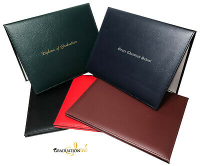 """Hot Foiled Graduation Diploma Cover (Holds 8 1/2"""" x 11"""" Diploma)"""
