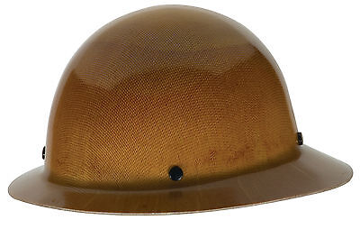 MSA 475407 Full Brim Skullgard Hard Hat with Ratchet Suspension