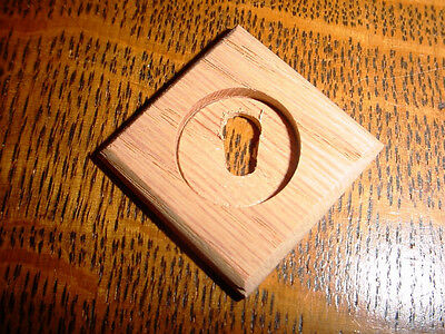 Victorian/Eastlake Style Wooden Keyhole Cover/Escutcheon, Oak, Unfinished