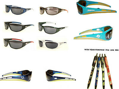 NFL OFFICIAL LICENSED SPORT SUNGLASSES 3 DOT UV 400 PICK YOUR TEAM 01144