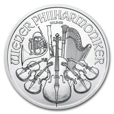 Piece argent 1 once Philharmonique de Vienne 1 oz 2017 1,5 euro silver coin
