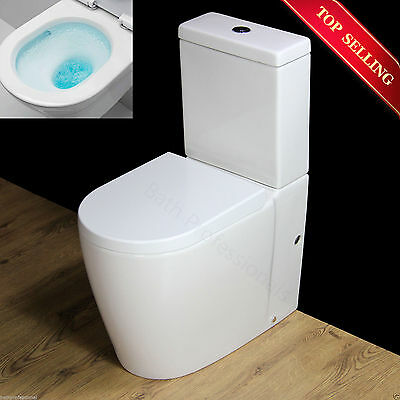 Toilet WC Compact Comfort Height Disabled Close Coupled Soft Seat Cover T11R
