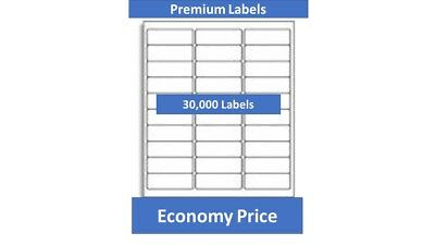 "#816 Comp 1"" x 2-5/8"" Labels   White Permanent 30-up - 30000/BX"