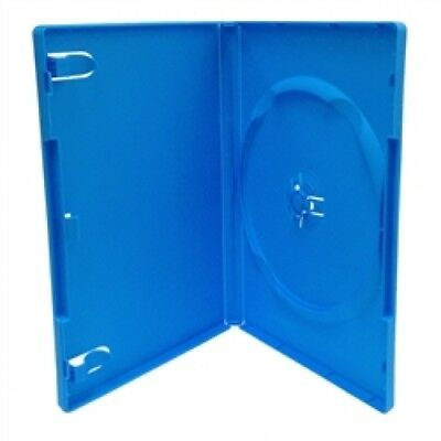 10 STANDARD Solid Blue Color Single DVD Cases