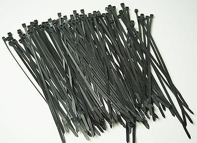 "11"" Long 100 Pcs Black 50 Lb Uv Resist Heavy Duty Cable Zip Ties Wraps Usa Made"