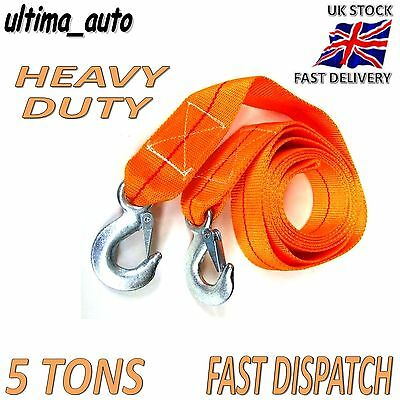 5 TONNE 5T 3.5M Tow Towing Pull Rope Strap Heavy Duty Road Recovery Car Van 4x4