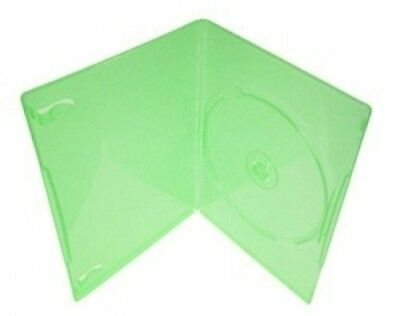25 SLIM Clear Green Color Single DVD Cases 7MM