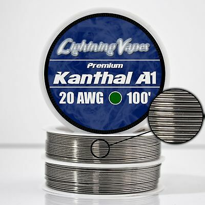Kanthal 20 Gauge AWG A1 Wire 100ft Roll .81mm , 0.814 Ohms/ft Resistance