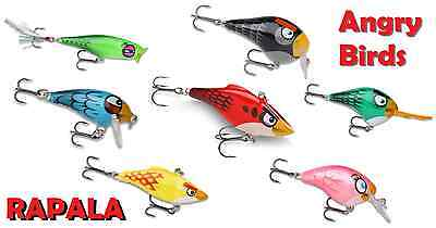 Rapala Angry Birds Wobbler Limited Edition OVP 7 Farben Red Blue Green Black usw
