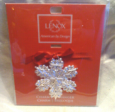Lenox  Silver Plated Snowflake Ornament or Charm