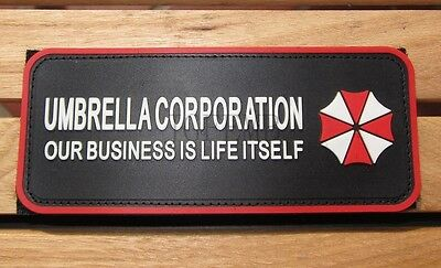 Resident Evil Umbrella OUR BUSINESS IS LIFE Chest tape 3D PVC Patch PB248