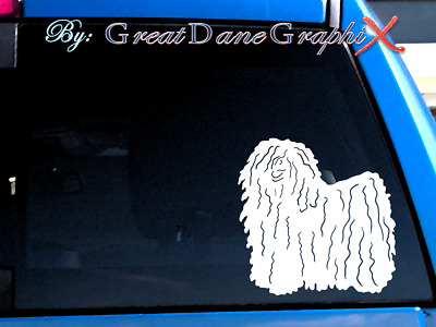 Hungarian Puli Vinyl Decal Sticker / Color Choice - HIGH QUALITY