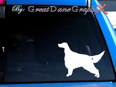 Irish Setter - Vinyl Decal Sticker / Color - HIGH QUALITY