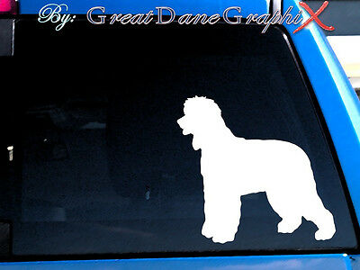 Irish Water Spaniel Vinyl Decal Sticker / Color Choice - HIGH QUALITY