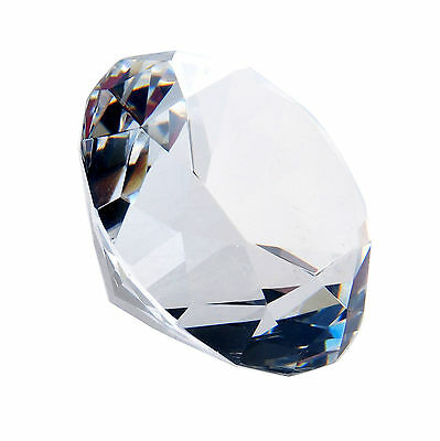 New Clear Crystal Diamond Shaped Paperweights Cut Glass Home Decor Jewelry Gifts