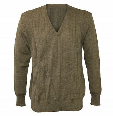 New Czech Army V-Neck Sweater - Wool Blend - Choice of Sizes - Military Surplus