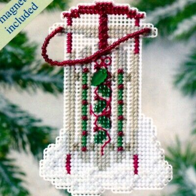 Snow Sled Beaded Christmas Ornament Kit Mill Hill 2009 Winter Holiday