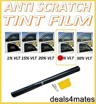 ANTI-SCRATCH PROFESSIONAL CAR WINDOW TINT FILM MEDIUM SMOKE BLACK  35% 76cm x 3M