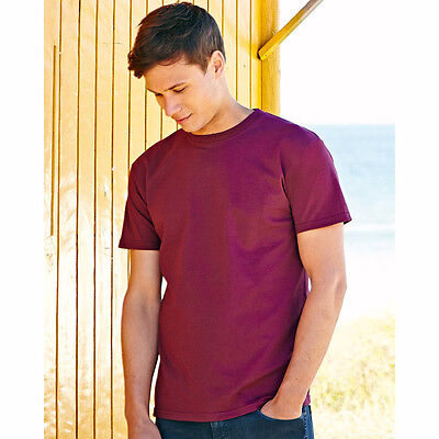 New Fruit Of The Loom Mens Super Premium Cotton Plain Blank T Shirt 18 Colours