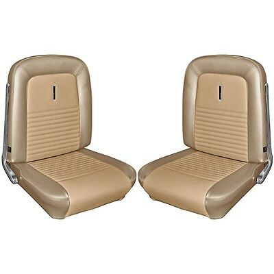 1967 67 Mustang 2+2 Fastback Front Rear Seat Upholstery Lt. Parchment TMI NEW