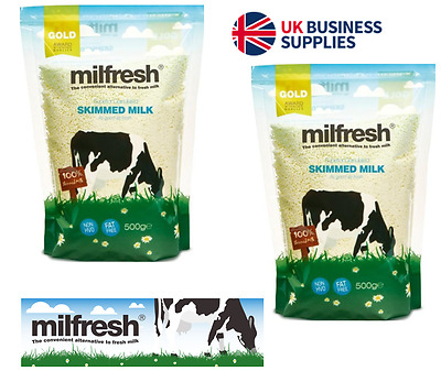 Milfresh Gold, Vending Machine, Skimmed Milk, Fat Free Whitener, 10 x 500g UKB65