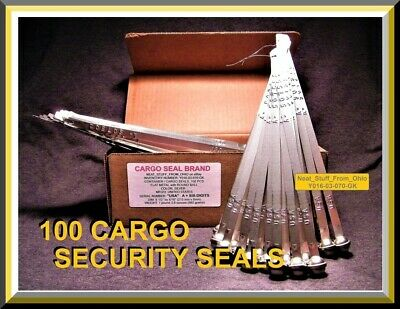 CARGO / CONTAINER SECURITY SEALS, METAL BAND-and-BALL TYPE, HIGHER-SECURITY