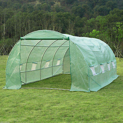 Outsunny 20 X 10' Greenhouse Walk-in Tunnel Garden Plant Shed Heavy Duty Frame