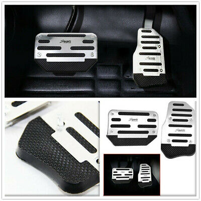 Aluminium Car Nonslip Brake Clutch Pedal Cover Set Foot Rest for Automatic Cars