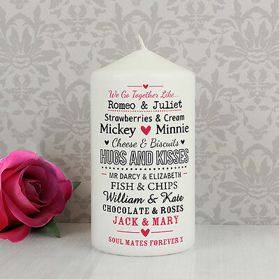 Personalised COUPLES Candle - Valentines Day, Anniversary, Engagement , Gift