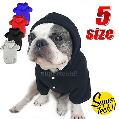 Cute Pet Dog Warm Jumper Sweater Clothes Puppy Cat Hoodie Winter Coat AU
