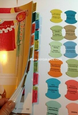 Stampin' Up! Printed & Punched Index Tabs for Catalogue 2013 - 2014 Tab Stampin
