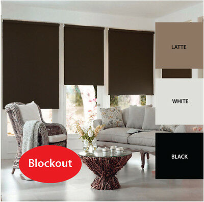 QUICKFIT: COMMERCIAL QUALITY BLOCKOUT ROLLER / HOLLAND BLIND white latte black