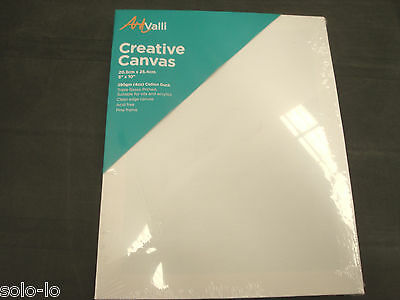 "10 Artist 8""x10"" Blank White stretched Canvas or 20.3x 25.3cm art Wholesale Bulk"