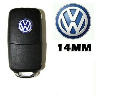 Remote Key Fob Logo Emblem Badge Decal 14Mm For Vw Scirocco Lupo Polo Eos Caddy