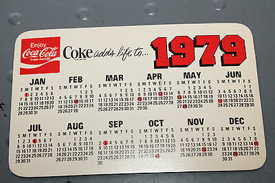 VINTAGE  1979 COCA COLA Pocket Calendar Advertising