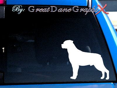 Rottweiler #2 Vinyl Decal Sticker / Color Choice - HIGH QUALITY