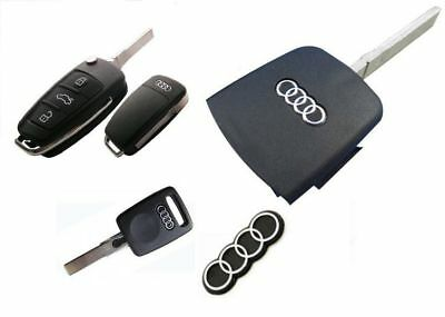 2X Remote Key Fob Case Logo Emblem Badge Sticker Fits For Audi Q5 Q7 S3 S4 S5 S6